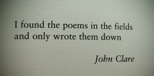 John Clare quote