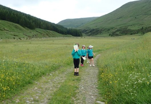 school children in High Borrowdale