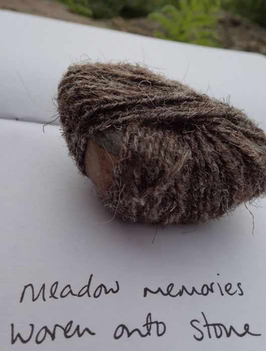 stone woven with meadow memories